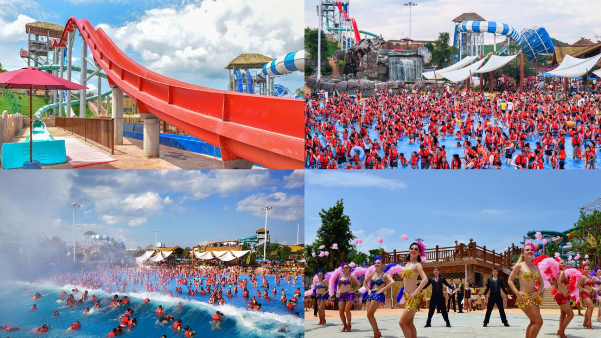 """Baise Xinghe water park won the """"most popular water park"""